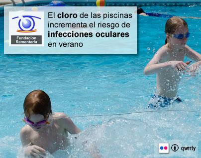 El cloro de las piscinas incrementa el riesgo de infecciones oculares en verano (Flikr:qwrrty)