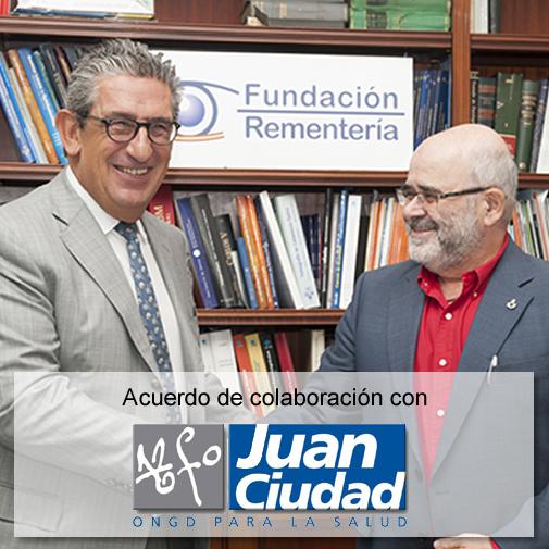 Firma del acuerdo colaboración con la Fundación Juan Ciudad