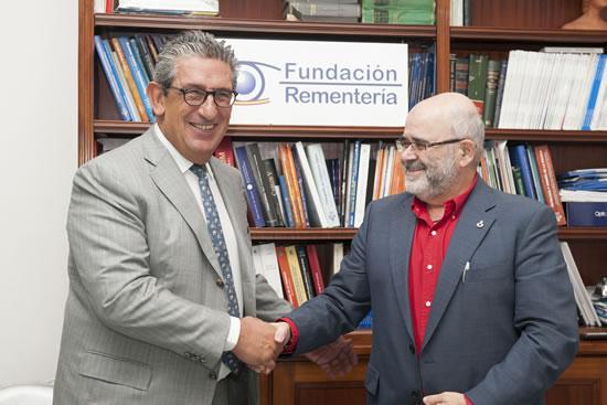 Firma del acuerdo con la Fundación Juan Ciudad