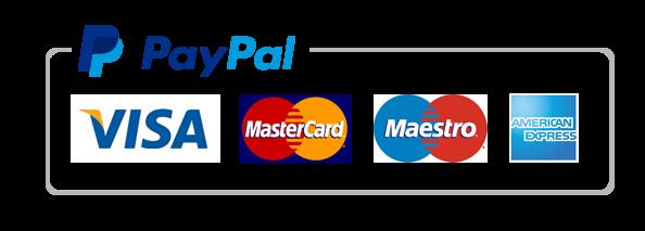 El pago se procesará mediante Paypal (puedes pagar sin registrarte con tu tarjeta de crédito o débito o usando tu cuenta de Paypal)